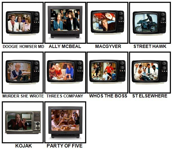 100 Pics TV Classics Level 51-60 Answers