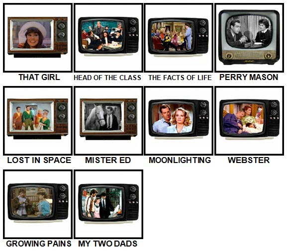 100 Pics TV Classics Level 61-70 Answers