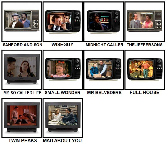 100 Pics TV Classics Level 71-80 Answers