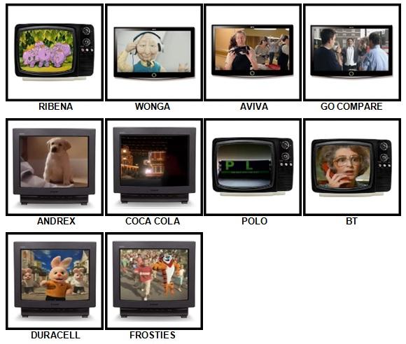 100 Pics Classic Ads Answers 1-10
