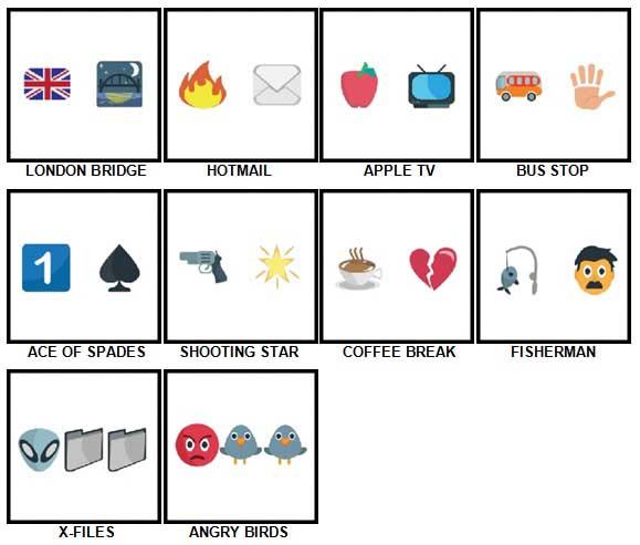 100 Pics Emoji Quiz 4 Answers 11-20