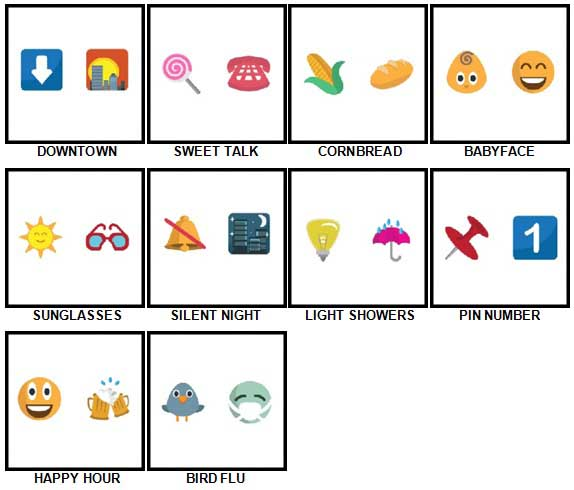 100 Pics Emoji Quiz 4 Answers 21-30