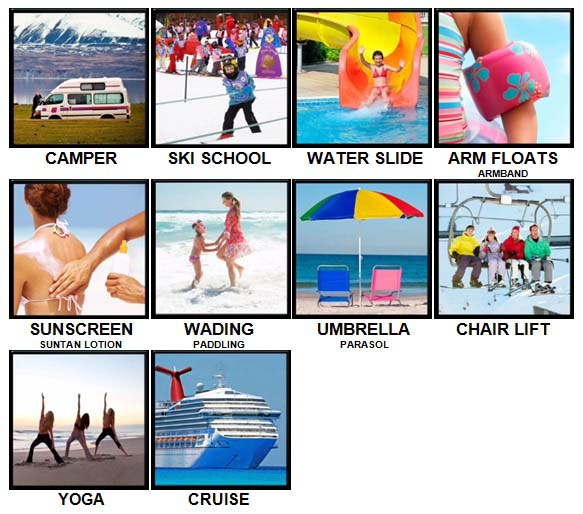 100 Pics Holidays Level 41-50 Answers