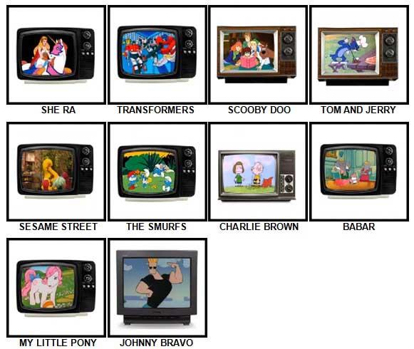 100 Pics Kids TV Classics Answers 11-20