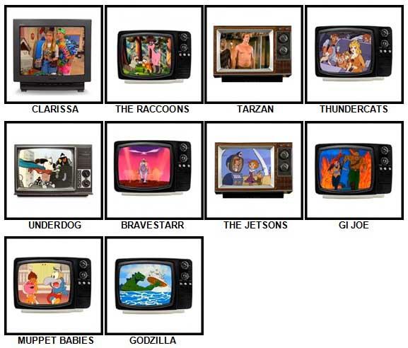100 Pics Kids TV Classics Answers 31-40
