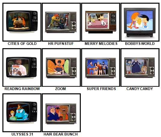 100 Pics Kids TV Classics Answers 71-80