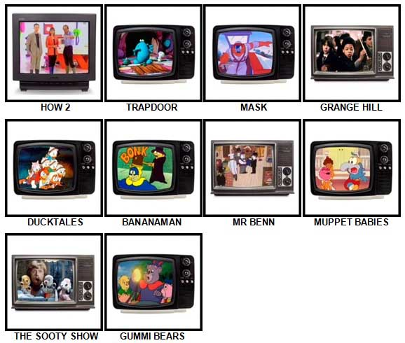 100 Pics Kids TV Classics Answers Level 21-30