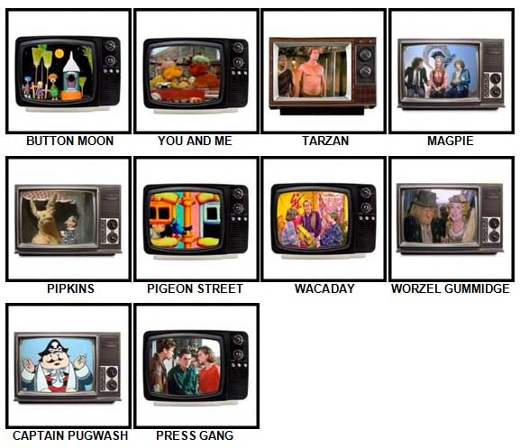 100 Pics Kids TV Classics Answers Level 51-60