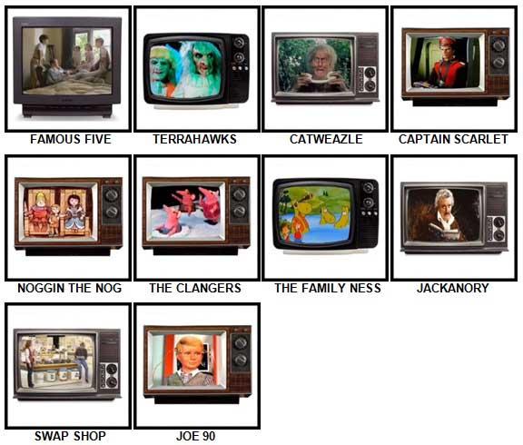100 Pics Kids TV Classics Answers Level 61-70