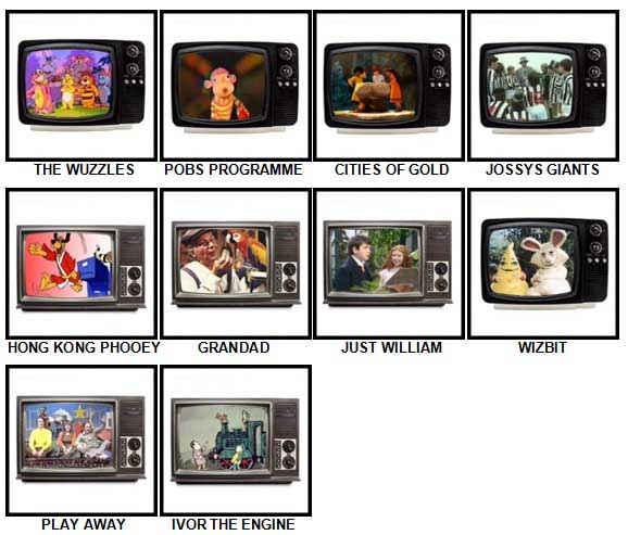 100 Pics Kids TV Classics Answers Level 71-80
