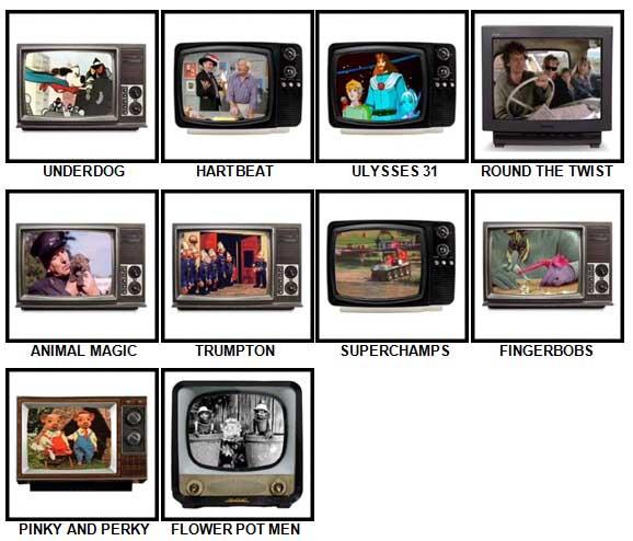 100 Pics Kids TV Classics Answers Level 81-90