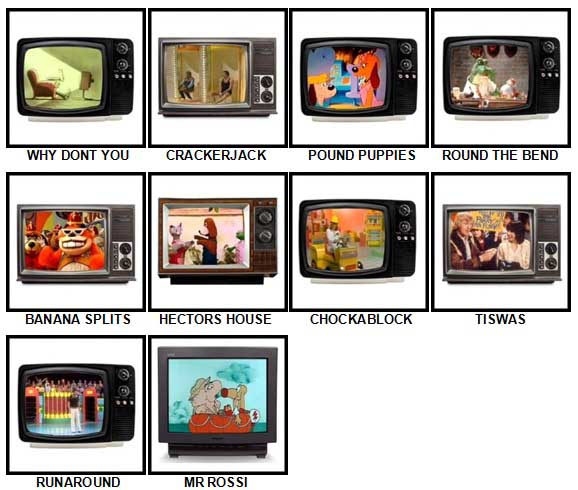 100 Pics Kids TV Classics Answers Level 91-100