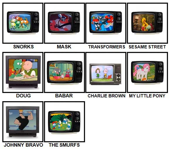 100 Pics Kids TV Classics Level 11-20 Answers