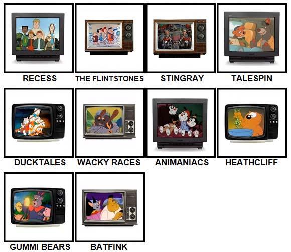 100 Pics Kids TV Classics Level 21-30 Answers