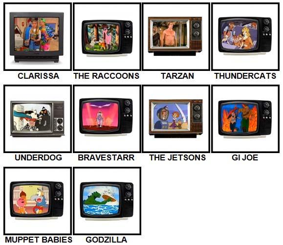 100 Pics Kids TV Classics Level 31-40 Answers