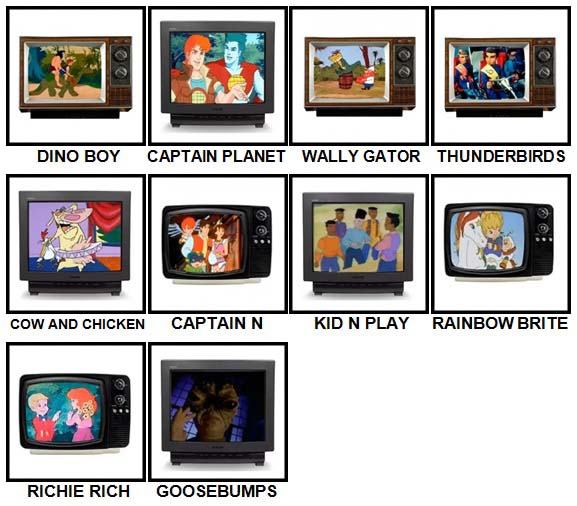 100 Pics Kids TV Classics Level 61-70 Answers