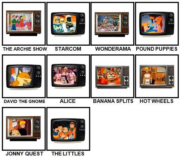 100 Pics Kids TV Classics Level 81-90 Answers