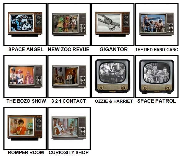 100 Pics Kids TV Classics Level 91-100 Answers