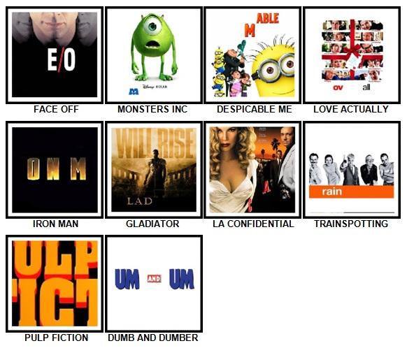 100 Pics Movie Logos Answers 21-30