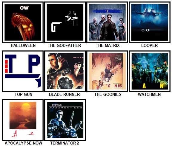 100 Pics Movie Logos Answers 41-50