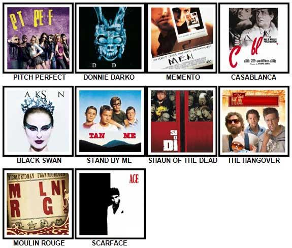 100 Pics Movie Logos Answers 61-70