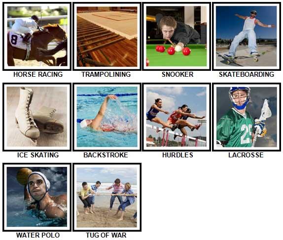 100 Pics Sports Answers 31-40