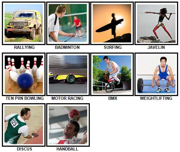 100 Pics Sports Answers 41-50