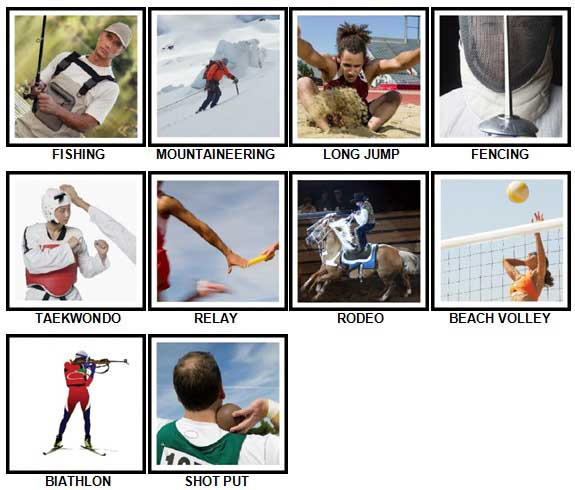 100 Pics Sports Answers 51-60