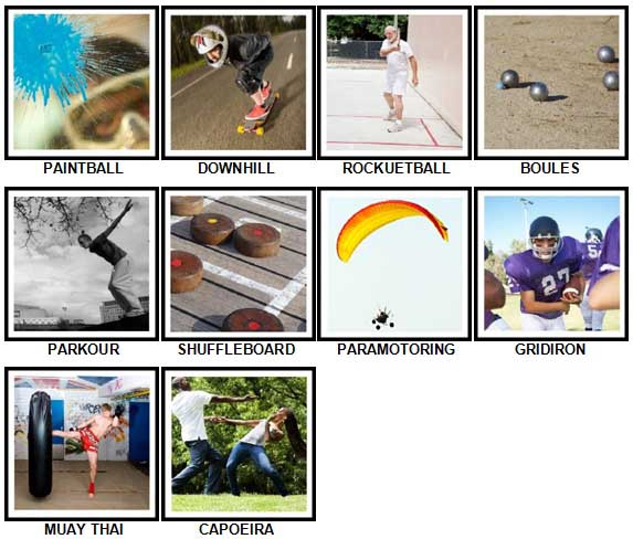 100 Pics Sports Answers 91-100