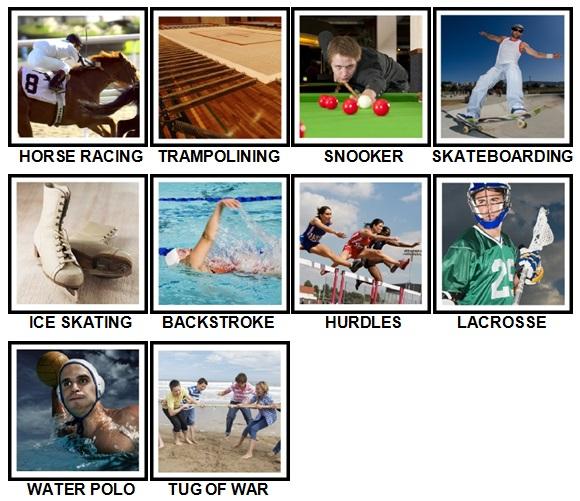 100 Pics Sports Level 31-40 Answers