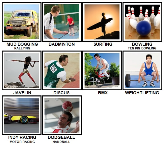 100 Pics Sports Level 41-50 Answers