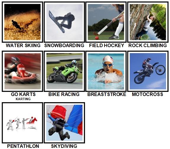100 Pics Sports Level 61-70 Answers