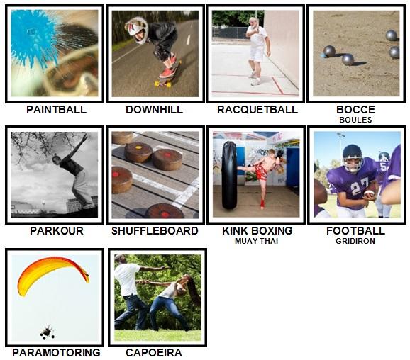 100 Pics Sports Level 91-100 Answers