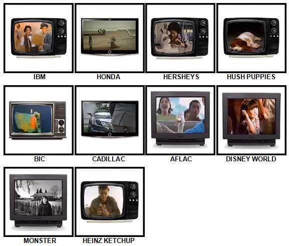 100 Pics TV Commercials Answers 31-40