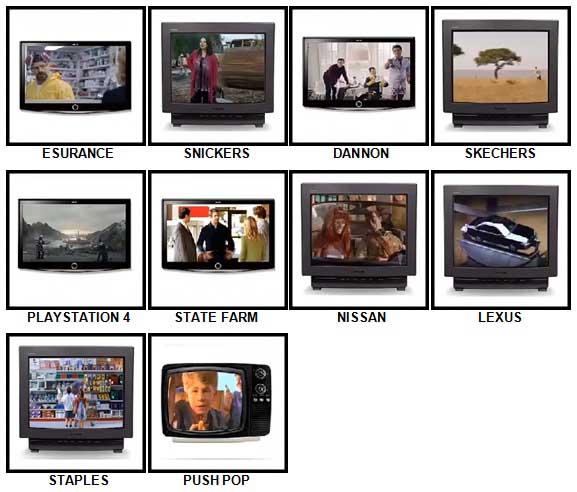 100 Pics TV Commercials Answers 51-60