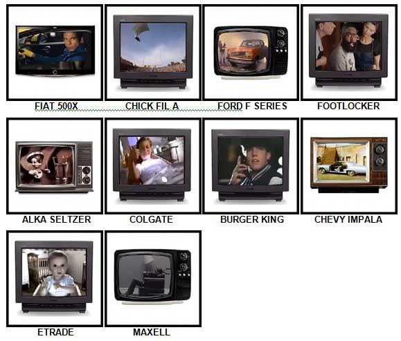 100 Pics TV Commercials Answers 71-80