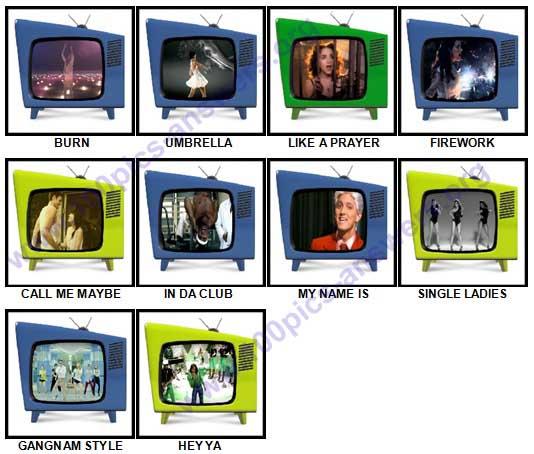100 Pics Music Videos Answers 11-20
