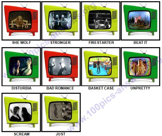 100 Pics Music Videos Answers 31-40
