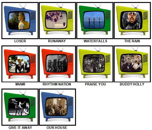 100 Pics Music Videos Answers 41-50