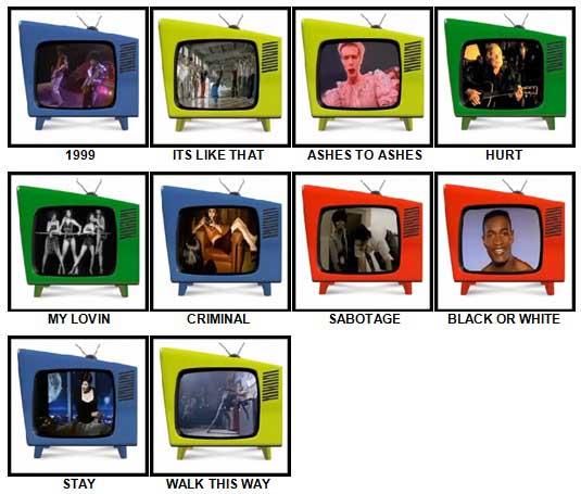 100 Pics Music Videos Answers 51-60