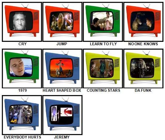 100 Pics Music Videos Answers 61-70