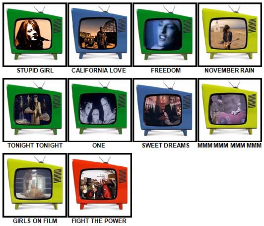 100 Pics Music Videos Answers 71-80