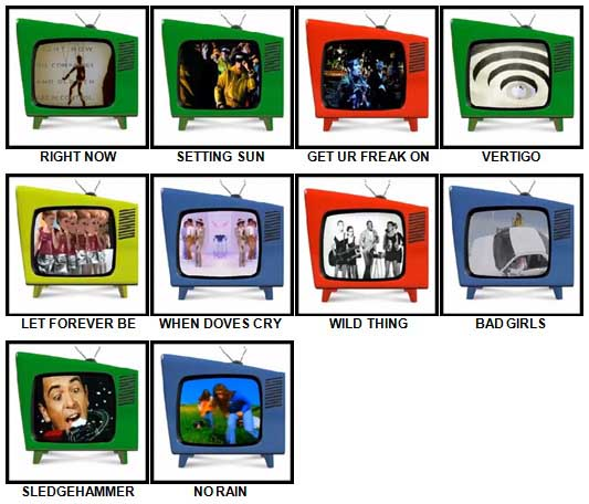 100 Pics Music Videos Answers 81-90