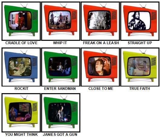 100 Pics Music Videos Answers 91-100