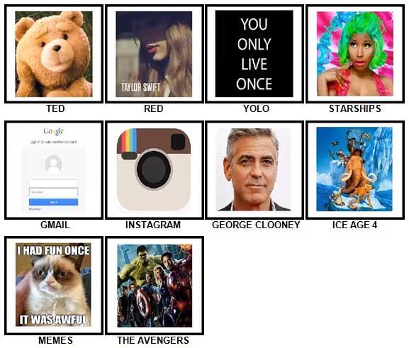 100 Pics 2012 Quiz Answers 1-10