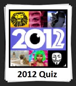 100 Pics 2012 Quiz Answers
