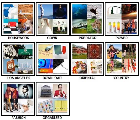 100 Pics Four Pics Level 61-70 Answers