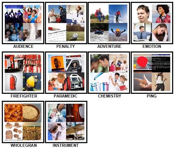 100 Pics Four Pics Level 71-80 Answers