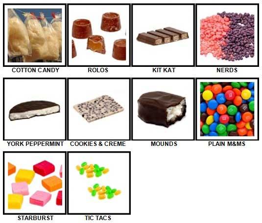 100 Pics Candy Answers 11-20