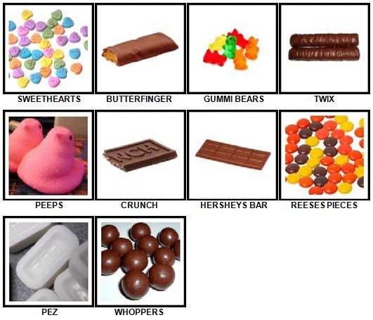 100 Pics Candy Answers 21-30